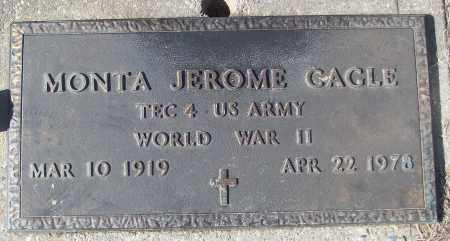 CAGLE (VETERAN WWII), MONTA JEROME - White County, Arkansas | MONTA JEROME CAGLE (VETERAN WWII) - Arkansas Gravestone Photos