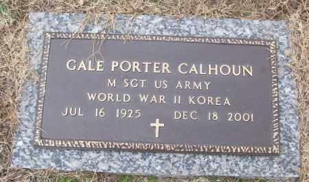 CALHOUN (VETERAN 2 WARS), GALE PORTER - White County, Arkansas   GALE PORTER CALHOUN (VETERAN 2 WARS) - Arkansas Gravestone Photos