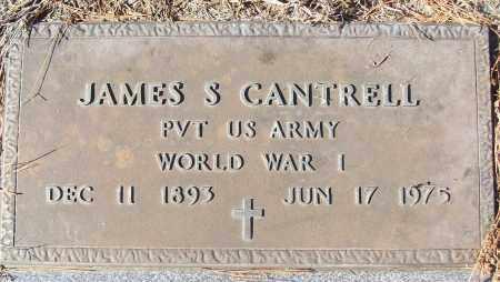 CANTRELL (VETERAN WWI), JAMES S - White County, Arkansas   JAMES S CANTRELL (VETERAN WWI) - Arkansas Gravestone Photos