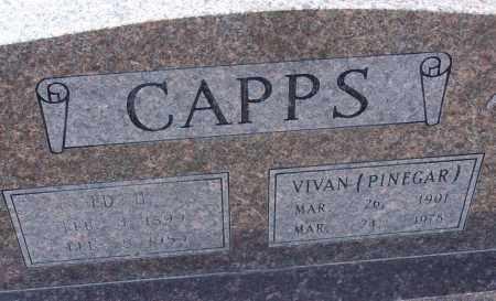 CAPPS, ED - White County, Arkansas | ED CAPPS - Arkansas Gravestone Photos