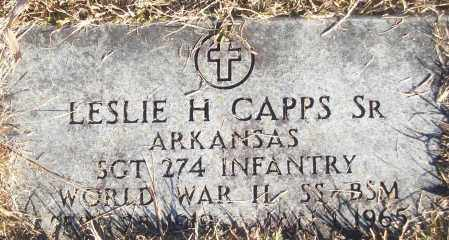 CAPPS, SR (VETERAN WWII), LESLIE H - White County, Arkansas | LESLIE H CAPPS, SR (VETERAN WWII) - Arkansas Gravestone Photos