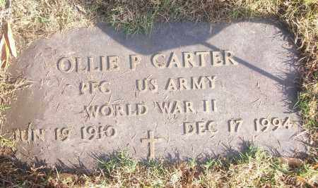CARTER  (VETERAN WWII), OLLIE P - White County, Arkansas   OLLIE P CARTER  (VETERAN WWII) - Arkansas Gravestone Photos