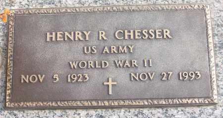 CHESSER (VETERAN WWII), HENRY R - White County, Arkansas | HENRY R CHESSER (VETERAN WWII) - Arkansas Gravestone Photos