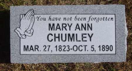 CHUMLEY, MARY ANN - White County, Arkansas | MARY ANN CHUMLEY - Arkansas Gravestone Photos