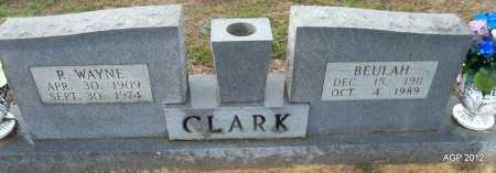 CLARK, R WAYNE - White County, Arkansas | R WAYNE CLARK - Arkansas Gravestone Photos