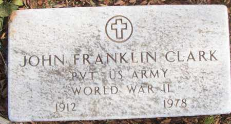 CLARK (VETERAN WWII), JOHN FRANKLIN - White County, Arkansas | JOHN FRANKLIN CLARK (VETERAN WWII) - Arkansas Gravestone Photos