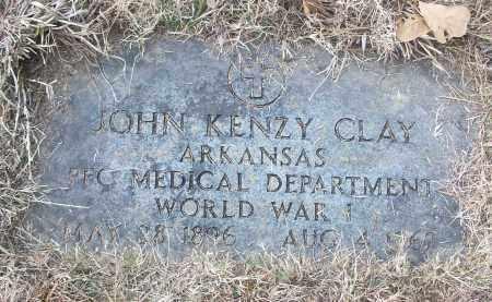 CLAY (VETERAN WWI), JOHN KENZY - White County, Arkansas   JOHN KENZY CLAY (VETERAN WWI) - Arkansas Gravestone Photos