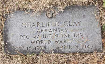 CLAY (VETERAN WWII), CHARLIE D - White County, Arkansas | CHARLIE D CLAY (VETERAN WWII) - Arkansas Gravestone Photos