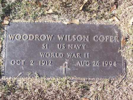 COFER  (VETERAN WWII), WOODROW WILSON - White County, Arkansas | WOODROW WILSON COFER  (VETERAN WWII) - Arkansas Gravestone Photos