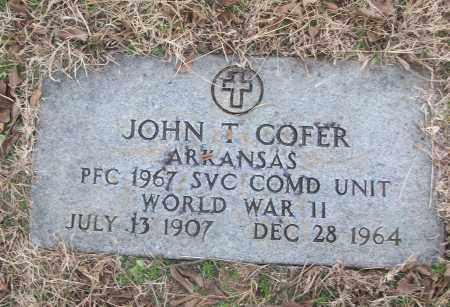 COFER (VETERAN WWII), JOHN T - White County, Arkansas   JOHN T COFER (VETERAN WWII) - Arkansas Gravestone Photos