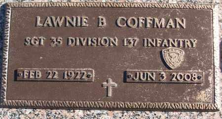 COFFMAN (VETERAN WWII), LAWNIE B - White County, Arkansas | LAWNIE B COFFMAN (VETERAN WWII) - Arkansas Gravestone Photos