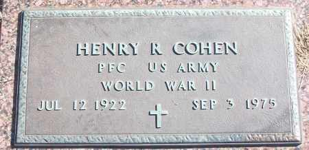 COHEN (VETERAN WWII), HENRY R - White County, Arkansas | HENRY R COHEN (VETERAN WWII) - Arkansas Gravestone Photos