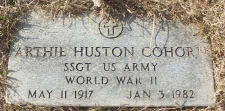 COHORN (VETERAN WWII), ARTHIE HUSTON - White County, Arkansas | ARTHIE HUSTON COHORN (VETERAN WWII) - Arkansas Gravestone Photos