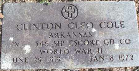 COLE (VETERAN WWII), CLINTON CLEO - White County, Arkansas | CLINTON CLEO COLE (VETERAN WWII) - Arkansas Gravestone Photos