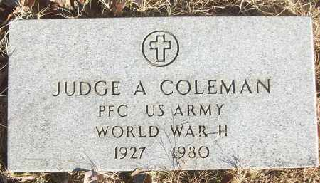 COLEMAN (VETERAN WWII), JUDGE A - White County, Arkansas | JUDGE A COLEMAN (VETERAN WWII) - Arkansas Gravestone Photos
