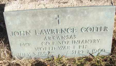 COLTER (VETERAN WWI), JOHN LAWRENCE - White County, Arkansas | JOHN LAWRENCE COLTER (VETERAN WWI) - Arkansas Gravestone Photos