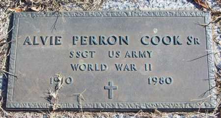 COOK, SR (VETERAN WWII), ALVIE PERRON - White County, Arkansas | ALVIE PERRON COOK, SR (VETERAN WWII) - Arkansas Gravestone Photos