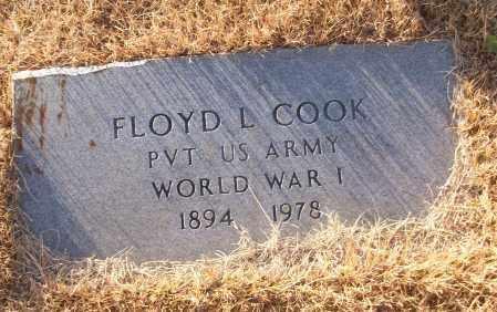 COOK (VETERAN WWI), FLOYD L - White County, Arkansas | FLOYD L COOK (VETERAN WWI) - Arkansas Gravestone Photos