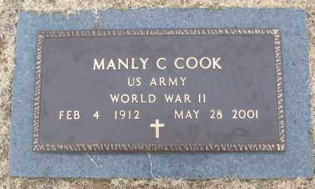 COOK (VETERAN WWII), MANLY C - White County, Arkansas | MANLY C COOK (VETERAN WWII) - Arkansas Gravestone Photos