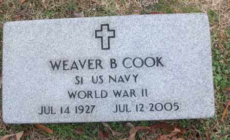 COOK (VETERAN WWII), WEAVER B - White County, Arkansas | WEAVER B COOK (VETERAN WWII) - Arkansas Gravestone Photos