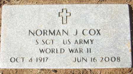 COX (VETERAN WWII), NORMAN J - White County, Arkansas | NORMAN J COX (VETERAN WWII) - Arkansas Gravestone Photos