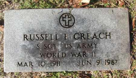 CREACH (VETERAN WWII), RUSSELL E - White County, Arkansas | RUSSELL E CREACH (VETERAN WWII) - Arkansas Gravestone Photos