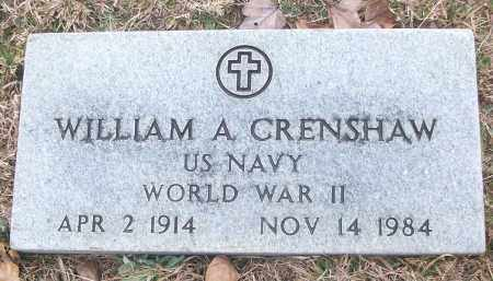 CRENSHAW (VETERAN WWII), WILLIAM A - White County, Arkansas | WILLIAM A CRENSHAW (VETERAN WWII) - Arkansas Gravestone Photos