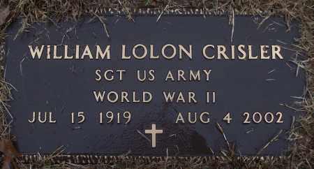 CRISLER (VETERAN WWII), WILLIAM LOLON - White County, Arkansas | WILLIAM LOLON CRISLER (VETERAN WWII) - Arkansas Gravestone Photos