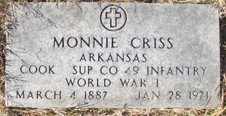 CRISS (VETERAN WWI), MONNIE - White County, Arkansas | MONNIE CRISS (VETERAN WWI) - Arkansas Gravestone Photos