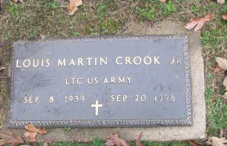 CROOK,  JR (VETERAN), LOUIS MARTIN - White County, Arkansas | LOUIS MARTIN CROOK,  JR (VETERAN) - Arkansas Gravestone Photos