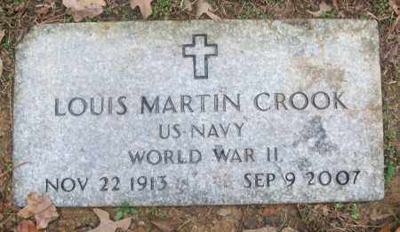 CROOK  (VETERAN WWII), LOUIS MARTIN - White County, Arkansas   LOUIS MARTIN CROOK  (VETERAN WWII) - Arkansas Gravestone Photos