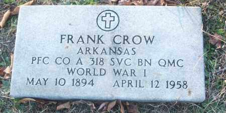 CROW (VETERAN WWI), FRANK - White County, Arkansas | FRANK CROW (VETERAN WWI) - Arkansas Gravestone Photos