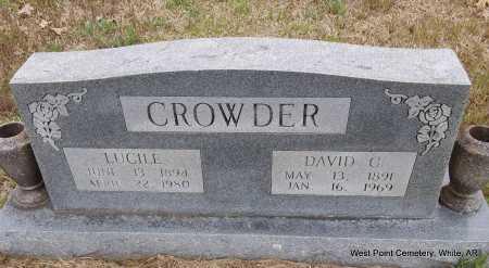 CROWDER, LUCILE - White County, Arkansas   LUCILE CROWDER - Arkansas Gravestone Photos