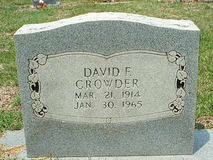 CROWDER, DAVID F - White County, Arkansas | DAVID F CROWDER - Arkansas Gravestone Photos