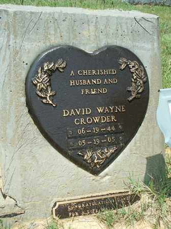 CROWDER, DAVID WAYNE - White County, Arkansas | DAVID WAYNE CROWDER - Arkansas Gravestone Photos