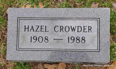 CROWDER, HAZEL - White County, Arkansas | HAZEL CROWDER - Arkansas Gravestone Photos