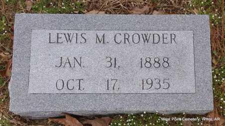 CROWDER, LEWIS M. - White County, Arkansas | LEWIS M. CROWDER - Arkansas Gravestone Photos