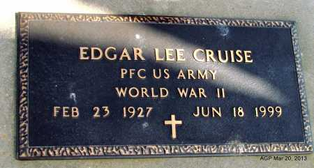 CRUISE (VETERAN WWII), EDGAR LEE - White County, Arkansas | EDGAR LEE CRUISE (VETERAN WWII) - Arkansas Gravestone Photos