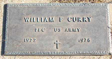 CURRY (VETERAN), WILLIAM F - White County, Arkansas | WILLIAM F CURRY (VETERAN) - Arkansas Gravestone Photos