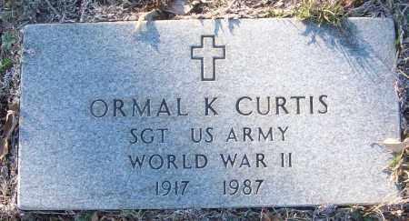 CURTIS (VETERAN WWII), ORMAL K - White County, Arkansas   ORMAL K CURTIS (VETERAN WWII) - Arkansas Gravestone Photos