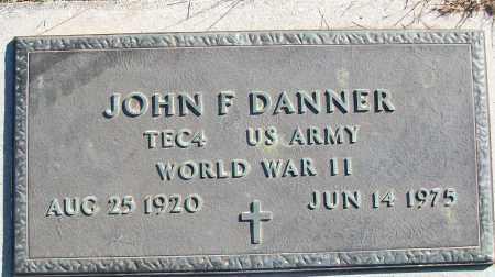 DANNER (VETERAN WWII), JOHN F - White County, Arkansas | JOHN F DANNER (VETERAN WWII) - Arkansas Gravestone Photos