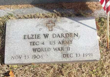 DARDEN  (VETERAN WWII), ELZIE W - White County, Arkansas | ELZIE W DARDEN  (VETERAN WWII) - Arkansas Gravestone Photos