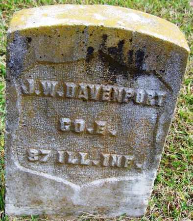 DAVENPORT (VETERAN UNION), J W - White County, Arkansas | J W DAVENPORT (VETERAN UNION) - Arkansas Gravestone Photos