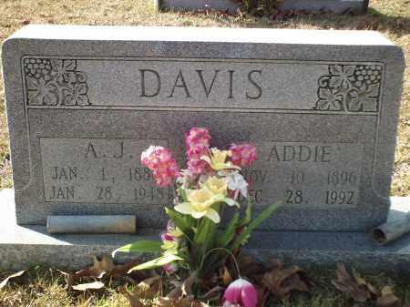 DAVIS, ATHUR JEFFERSON - White County, Arkansas | ATHUR JEFFERSON DAVIS - Arkansas Gravestone Photos