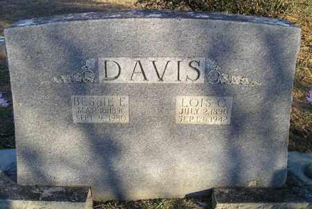 DAVIS, BESSIE E - White County, Arkansas   BESSIE E DAVIS - Arkansas Gravestone Photos