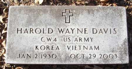 DAVIS (VETERAN 2 WARS), HAROLD WAYNE - White County, Arkansas   HAROLD WAYNE DAVIS (VETERAN 2 WARS) - Arkansas Gravestone Photos