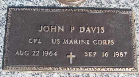 DAVIS (VETERAN), JOHN P - White County, Arkansas   JOHN P DAVIS (VETERAN) - Arkansas Gravestone Photos