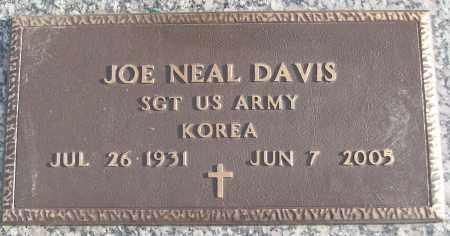DAVIS (VETERAN KOR), JOE NEAL - White County, Arkansas | JOE NEAL DAVIS (VETERAN KOR) - Arkansas Gravestone Photos