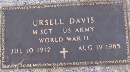 DAVIS (VETERAN WWII), URSELL - White County, Arkansas   URSELL DAVIS (VETERAN WWII) - Arkansas Gravestone Photos