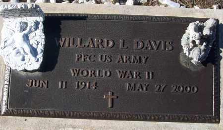 DAVIS (VETERAN WWII), WILLARD L - White County, Arkansas | WILLARD L DAVIS (VETERAN WWII) - Arkansas Gravestone Photos